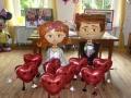 Airwalker-Herzen-Brautpaar