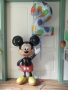 Folienballons Zahl 2 und Airwalker Mickey Maus
