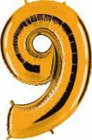 Prima-Ballons-Leer-Zahl-9-90cm-Altgold-10