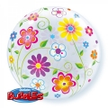 Bubble Folienballon Blumen