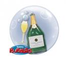 Bubble Folienballon Champagne 3D