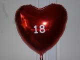 Folien-Ballon-Herz-Rot-18-B-Day