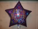 Folienballon Geburtstag 90 cm Stern