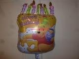 Folienballon Geburtstag Winnie the Pooh Torte