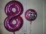 Folienballons 8ter Geburtstag + Monster High