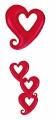 Folienballon offene Herzen Rot