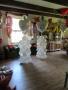 Ballongirlanden als Säulen mit 90 cm Folienherz