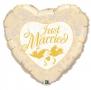 Folienballon Herz 90cn Gold Just Married