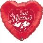 Folienballon Herz 90cn Rot Just Married