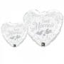Folienballons Hochzeit 45cm und 90cm Tauben