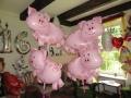 Folienballons Schweine
