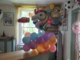 Einhornballon mit Girlande