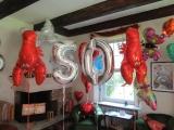 Folienballons Zahlen 50 und Hummerkrabben