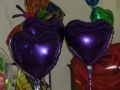 Folien-Ballon-Herzen-Violett