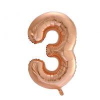 Prima-Ballons-Leer-Zahl-3-90cm-Rosegold-4