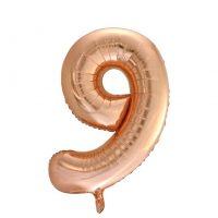 Prima-Ballons-Leer-Zahl-9-90cm-Rosegold-10