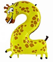 Folienballon-Zahl-2-Giraffe