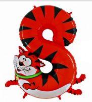 Folienballon-Zahl-8-Katze