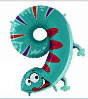 Folienballon-Zahl-9-Gekko