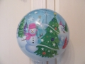 Bubbleballon Schneemann Rückrseite