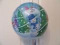 Bubbleballon Schneemann Vorderseite