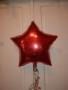 Folie Ballon Stern 45 cm Rot