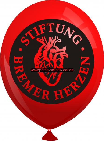 Werbeballon-bedruckt-Rot