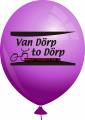 Werbeballon-bedruckt-Violett