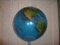 Bubbleballon Globus Rückseite