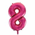 Zahlenballon 8 Pink 86 cm hoch