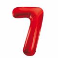 Zahlenballon 7 Rot 86 cm hoch
