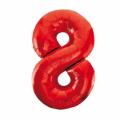 Zahlenballon 8 Rot 86 cm hoch