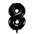 Zahlenballon 8 Schwarz 86 cm hoch