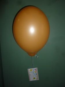 Ballonflugkarte am Heliumballon