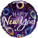 Silvester Happy New Year Frohes neues Jahr Ballon Rund