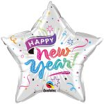 Silvester Happy New Year Frohes neues Jahr Ballon Stern