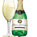 Champagner Glas Silvester Happy New Year Frohes neues Jahr Ballon